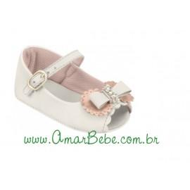 Sapatilha Ortopasso Peep Toe com Laço - Bebê Delicada